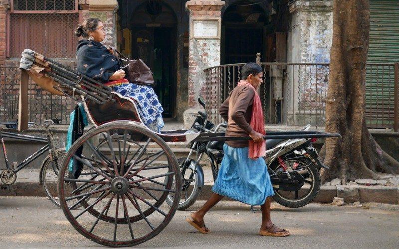 Woman on Rickshaw in India Malachi O'Doherty