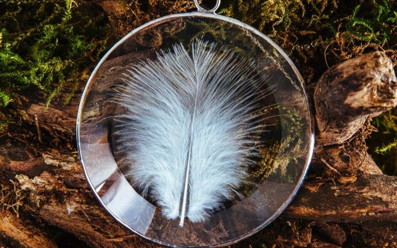 Strangford Lough Angel feather sun catcher